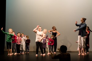 Image by Paul Trask Working with our infants and juniors at the dance faktry festival